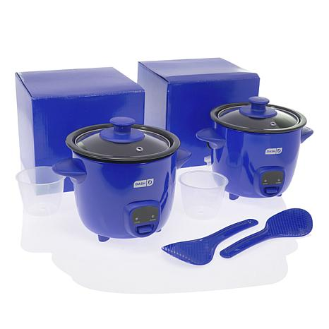 DASH 2-pack 2-Cup Mini Rice Cookers with Gift Boxes