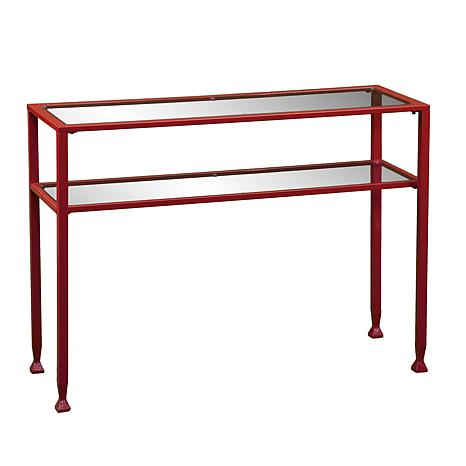 Dayton Metal/Glass Console Table - Red