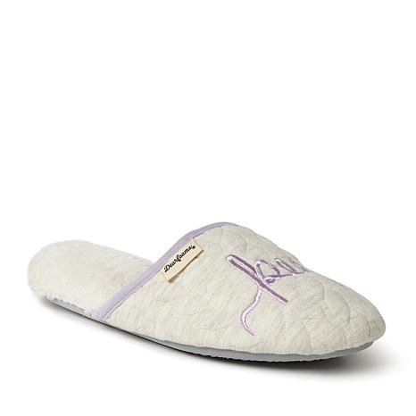 Dearfoams Cable Quilt Novelty Scuff