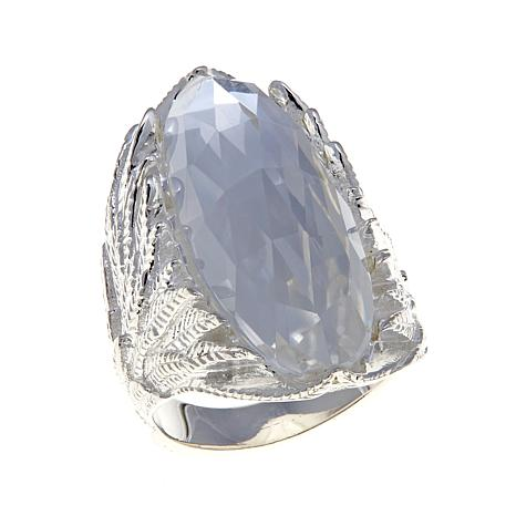 Deb Guyot 10ct Elongated Oval Herkimer Quartz Ring