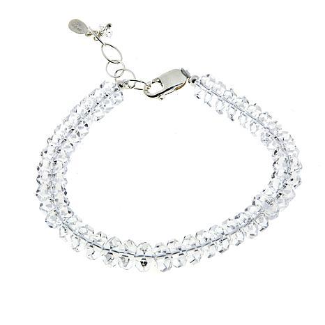 "Deb Guyot 58.8ctw Herkimer ""Diamond"" Quartz 7-1/4"" Tennis Bracelet"