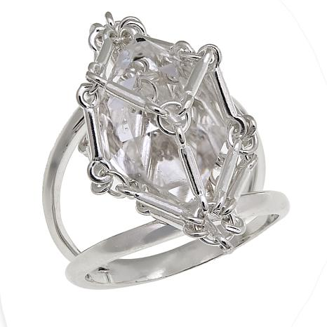 "Deb Guyot Designs Herkimer ""Diamond"" Quartz Caged Ring"
