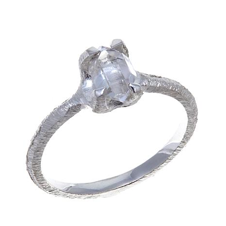 "Deb Guyot Herkimer ""Diamond"" Quartz Brushed Ring"