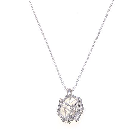 "Deb Guyot Herkimer ""Diamond"" Quartz Caged Pendant"