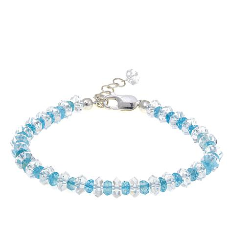 Deb Guyot Herkimer Quartz and Aquamarine Bracelet
