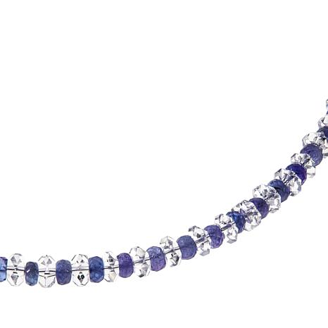 "Deb Guyot Herkimer Quartz and Tanzanite 17"" Necklace"