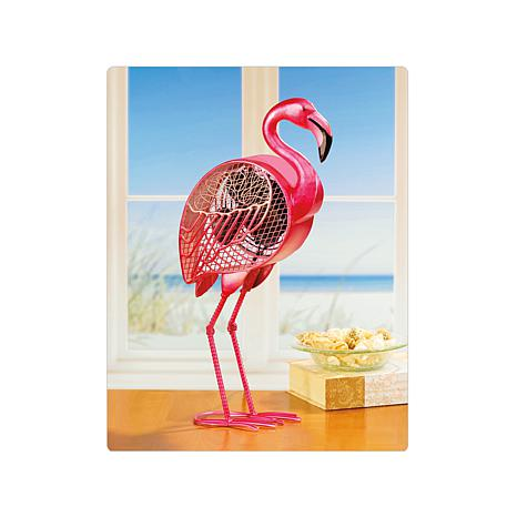 DecoBREEZE Single Speed Flamingo Figurine Fan
