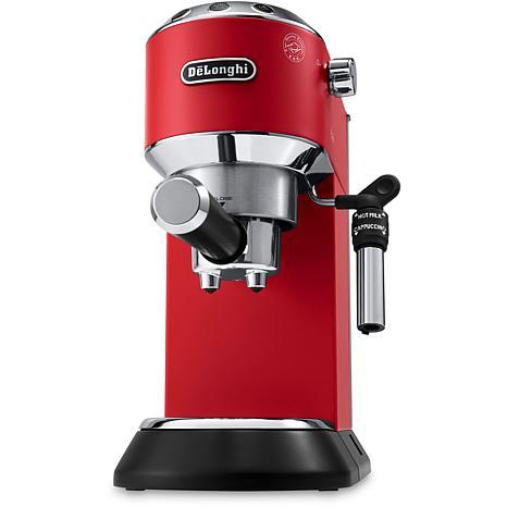 Dedica Deluxe Pump Espresso Machine w/Rapid Cappuccino System - Red