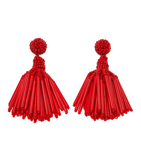 deepa by Deepa Gurnani® Seed Bead Tassel Earrings