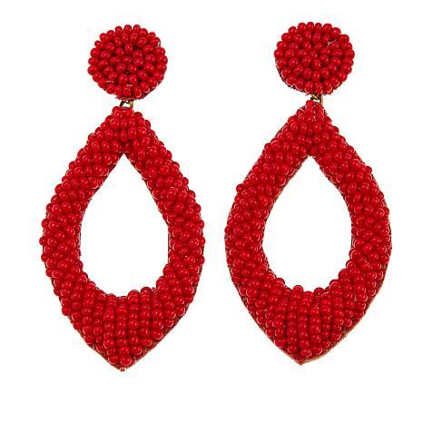 deepa by Deepa Gurnani® Seed Bead Teardrop Earrings