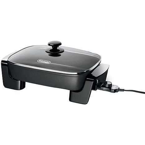 DeLonghi Electric Skillet with Tempered Glass Lid