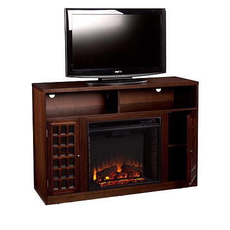Denton Media Fireplace Espresso 7630105 Hsn