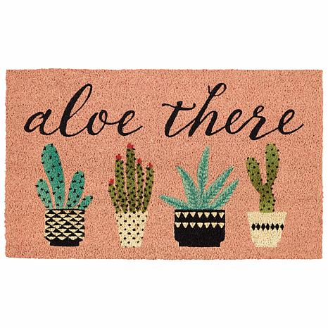 """Design Imports """"Aloe There"""" Doormat"""