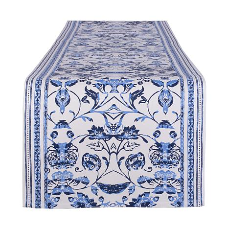 "Design Imports Madiera Print Table Runner 14"" x 72"""