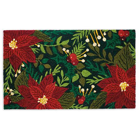 Design Imports Poinsettias Doormat