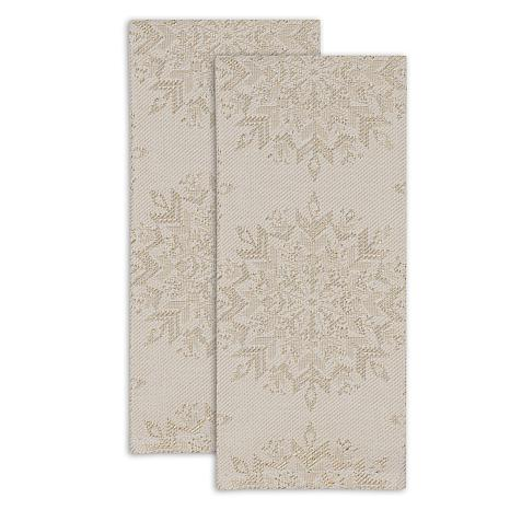 Design Imports Winter Sparkle Kitchen Towel Set of 2