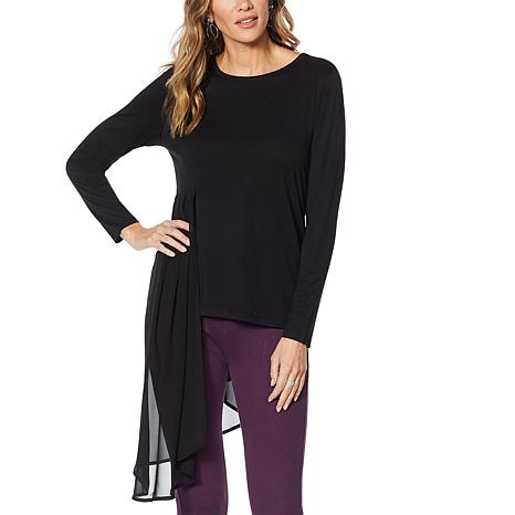DG2 by Diane Gilman Dramatic Mixed Media Asymmetric Top