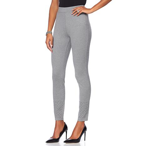 DG2 by Diane Gilman Jeweled Hem Ponte Legging