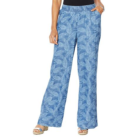 DG2 by Diane Gilman  SoftCell Denim Wide-Leg Pant - Fashion