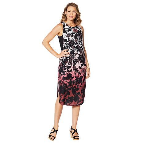 DG2 by Diane Gilman Tank Dress with Side Slits
