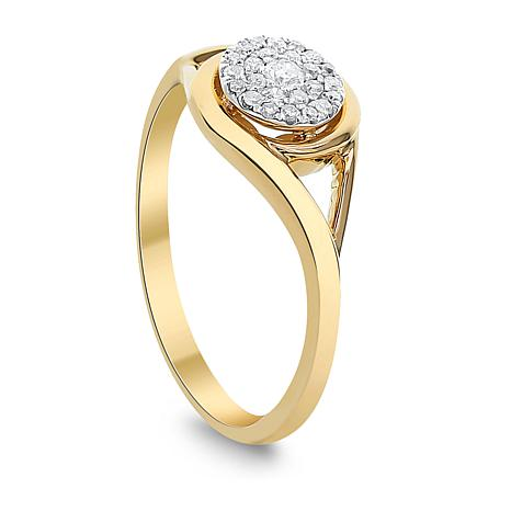 21de4ba21 Diamond Couture 0.15ctw Diamond 14K Yellow Gold Ring - 8649068 | HSN