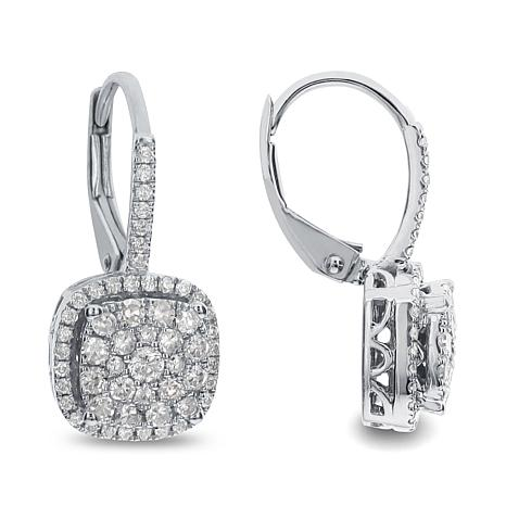 Diamond Couture14K White Gold 0.5ctw Diamond  Drop Earrings