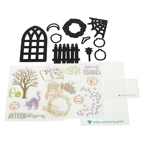 Diamond Press Window View Halloween and Fall Stamp and Die Kit