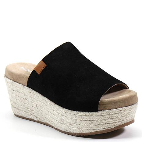 Diba True Bop Top Suede Wedge Slide Sandal