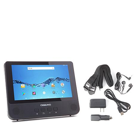 "DigiLand 9"" 16GB Android DVD Player/Tablet w/Earbuds"