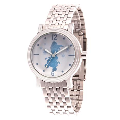 Disney Frozen 2 Olaf Women's Silver Alloy Watch w/Stainless Steel Band