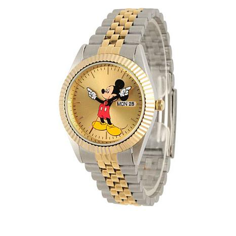 Disney Mickey Mouse 2-Tone Bracelet Watch