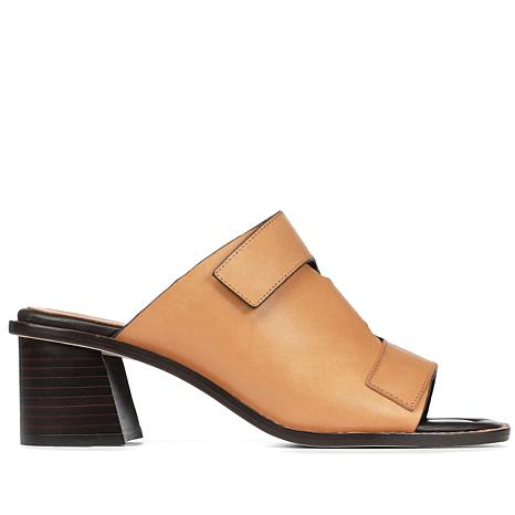 Donald J. Pliner Amalia Leather Block-Heel Slide Sandal