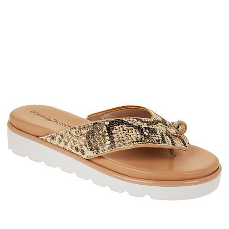 Donald J. Pliner Leaane Leather Fashion Comfort Thong Sandal