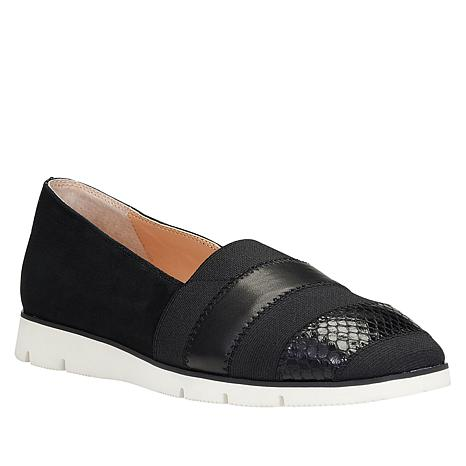Donald J. Pliner Leather Mixed Meda Slip-On Flat