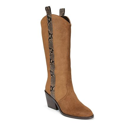Donald J. Pliner Riot Leather or Suede Western Pull-On Boot