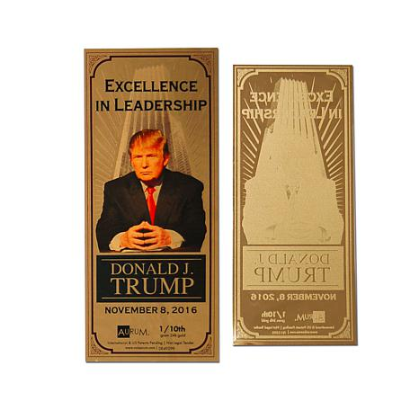Donald J. Trump Excellence in Leadership 24K Gold Aurum