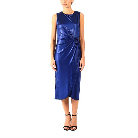 Donna Ricco Sleeveless  Metallic Knit Sheath Dress
