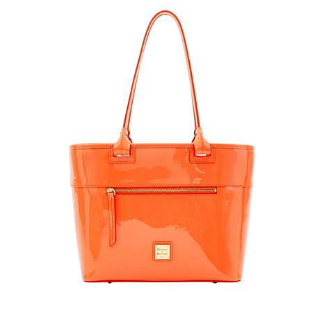 Dooney & Bourke Beacon Patent Leather Zip Tote