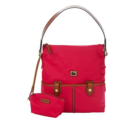 Dooney & Bourke Camden Nylon Hobo Bag with Cosmetic Pouch