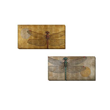 """""""Dragonfly on Gold and Silver"""" by Pinto Set"""