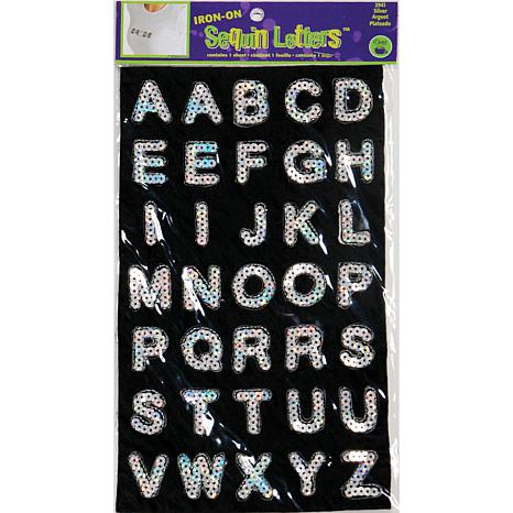 Dritz Iron-On Sequin Block Letters - Silver