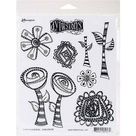 """Dyan Reaveley/'s Dylusions Cling Stamp Collections 8.5/""""x7/""""-legs Eleven"""