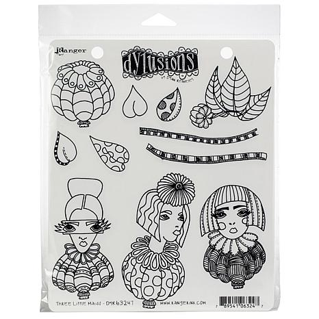 Dyan Reaveley's Dylusions Cling Stamp Collections - Three Little Maids