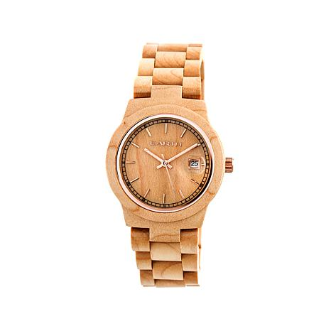 "Earth Wood ""Biscayne"" Tan Wood Bracelet Watch"
