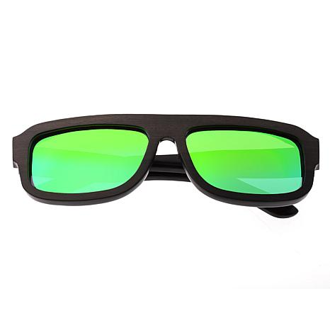 Earth Wood Daytona Sunglasses with Espresso Frame and Green Lenses