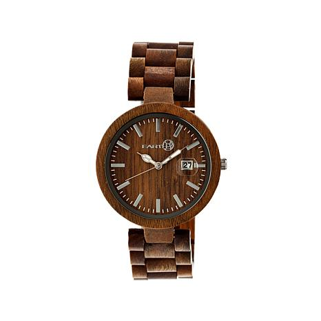 "Earth Wood ""Stomates"" Olive Dial Wood Bracelet Watch"