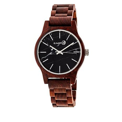 Earth Wood Tuckahoe Red Wood Bracelet Watch