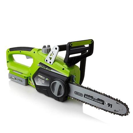 Earthwise 10 cordless lithium ion chainsaw 7369426 hsn earthwise 10 cordless lithium ion chainsaw keyboard keysfo Images