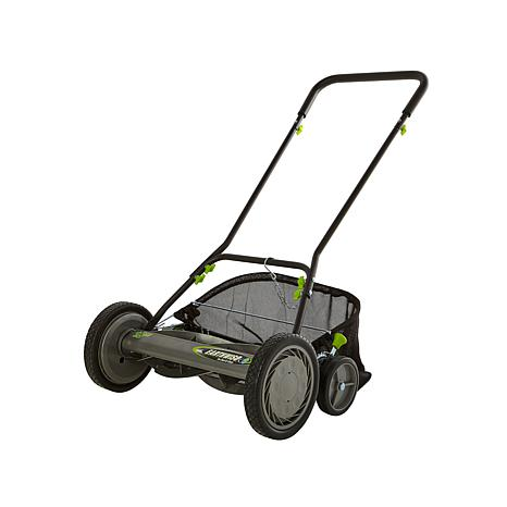 "EARTHWISE 18"" Reel Push Mower with Grass Catcher"