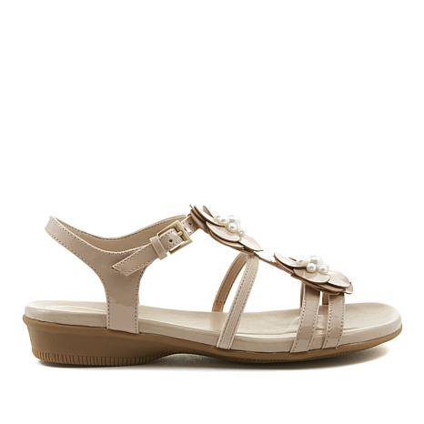 388856aa2f96 easy spirit Haven Patent Leather Flower Sandal - 8642137